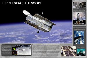 Hubble Space Telescope Poster (Laminated)