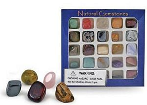 Gemstone Collection Box - kids rock collection - rock kit