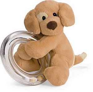 Gund Spunky Ring Rattle-Brown