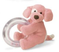 Gund Spunky Ring Rattle-Pink