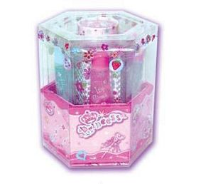 Spin Cosmetic Caddy With Blinking Light - Princess