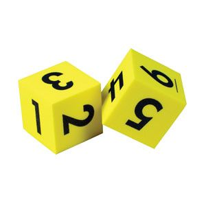 Soft Foam Number Dice