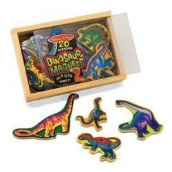 Melissa and Doug 20 Wooden Dinosaur Magnets in a Box