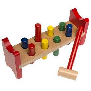 Melissa and Doug Wooden Pound-A-Peg