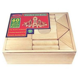 Melissa and Doug 60 Piece Standard Unit Blocks