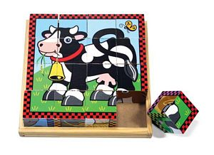 Melissa and Doug Farm Cube Puzzle