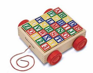 Melissa and Doug Classic ABC Block Cart