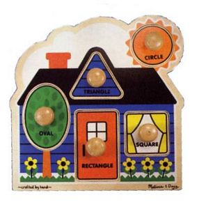 Melissa and Doug First Shapes Jumbo Puzzle