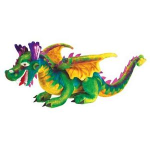 Melissa and Doug Lifelike and Lovable Plush Dragon - kids stuffed soft dragon
