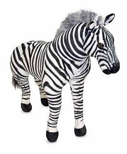 Melissa and Doug Large Stuffed Zebra