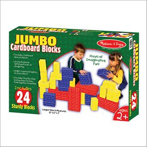 Melissa and Doug Jumbo Cardboard Blocks