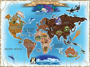 Melissa and Doug Map of the World 500 Piece Jigsaw Puzzle