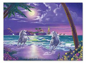 Melissa and Doug 500 Piece Seaside Stallions Jigsaw Puzzle