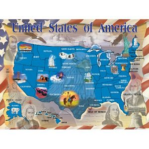Melissa and Doug United States of America 500 Piece Jigsaw Puzzle