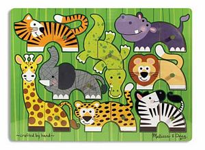 Melissa and Doug Zoo Mix'n Match Peg Puzzle