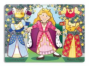Melissa and Doug Princess Dress-Up Mix'n Match Peg Puzzle