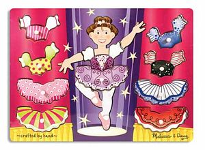 Ballerina Dress-Up Mix'n Match Peg Puzzle