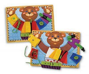 Melissa and Doug Basic Skills Board-It's A Puzzle Too!!!!