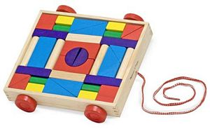 Melissa and Doug Unit Blocks on Wheels