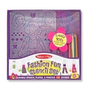Melissa and Doug Fashion Stencil Set