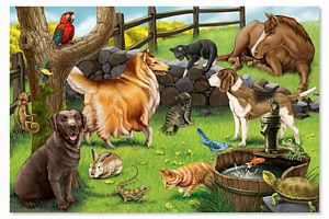 Pet Floor Puzzle (24 Piece)