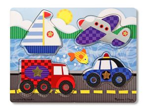 Melissa and Doug Vehicles Touch and Feel Puzzle