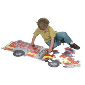 Melissa and Doug Giant Fire Truck Floor Puzzle-24 Pieces