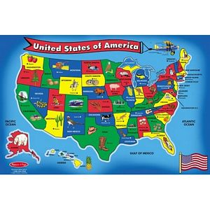 Melissa and Doug U.S.A. Floor Puzzle 51 Jumbo Pieces - kids floor puzzle usa