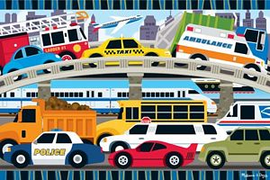 Melissa and Doug Traffic Jam Floor Puzzle