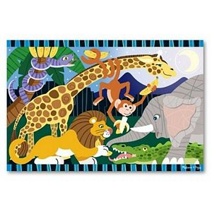 Melissa and Doug Safari Social Floor Puzzle, safari puzzle, kids and childrens floor puzzle, durable