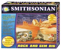 Smithsonian Rock and Gem Dig, rock dig kit, dig a rock kit, rock and gem kit, kids rock digging kit
