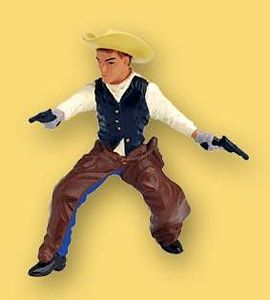 Papo Cowboy With Hat and Two Colt Revolvers Toy Model