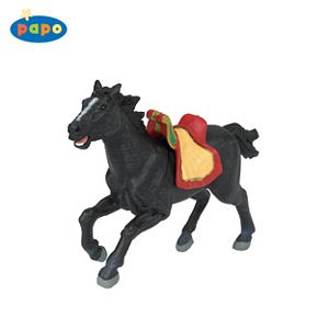 Papo Viking Horse-Black Toy Model