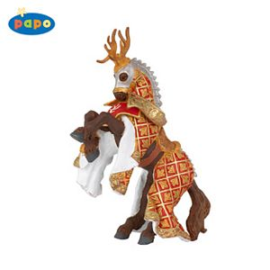 Papo Stag Knight Horse-Red Toy Model