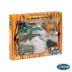 Papo Wild Animal Set 2. papo animals gift set, wild animal toys for kids, childrens animal replicas
