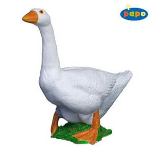 Papo White Goose Toy Model