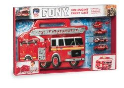 Fdny Fire Truck Carrying Case W+4 Vehicles