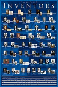 Famous Inventors Poster (Rolled and Sleeved)