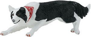 Wild Safari Border Collie Toy Model