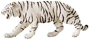 Wild Safari White Tiger Model Toy
