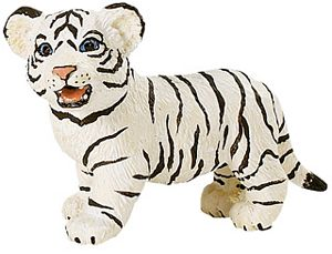 Wild Safari Wildlife White Bengal Tiger Cub Toy Model