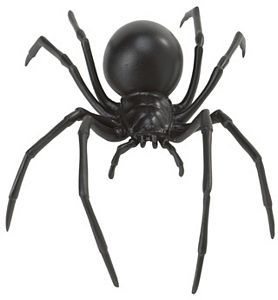 Hidden Kingdom Black Widow Spider Model Toy - Bug Toys - Insect Toys