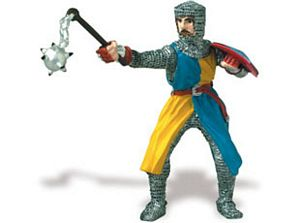 Safari Knight with Ball & Chain & Yellow/Blue Robes Toy Model