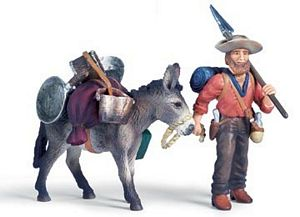 Schleich Gold Prospector with Donkey