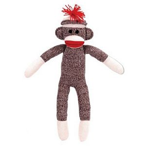 Sock Monkey Classic Toy for kids, the original sock monkey stuffed toy, kia commercial