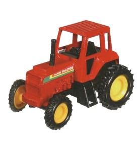 Toy Pull Back Tractor-Red, tractor toy, farm vehicle toy, die cast tractor, diecast tractor