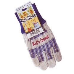 Kids Gray Leather Gloves-Medium, kids size gloves, childrens garden gloves, toysmith