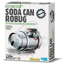 Green Science Soda Can Robug Kit, science kit, green science, toysmith, science toys, kids lab