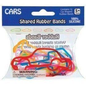 Car Shaped Rubber Bands