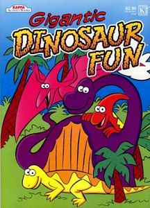 Gigantic Dinosaur Fun Coloring Activity Book